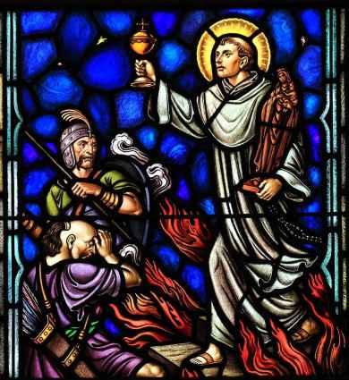 São Jacinto, vitral da igreja de Santo Dominigo, Washington, D.C.